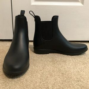 Sam Edelman Black Rain Booties (Waterproof)
